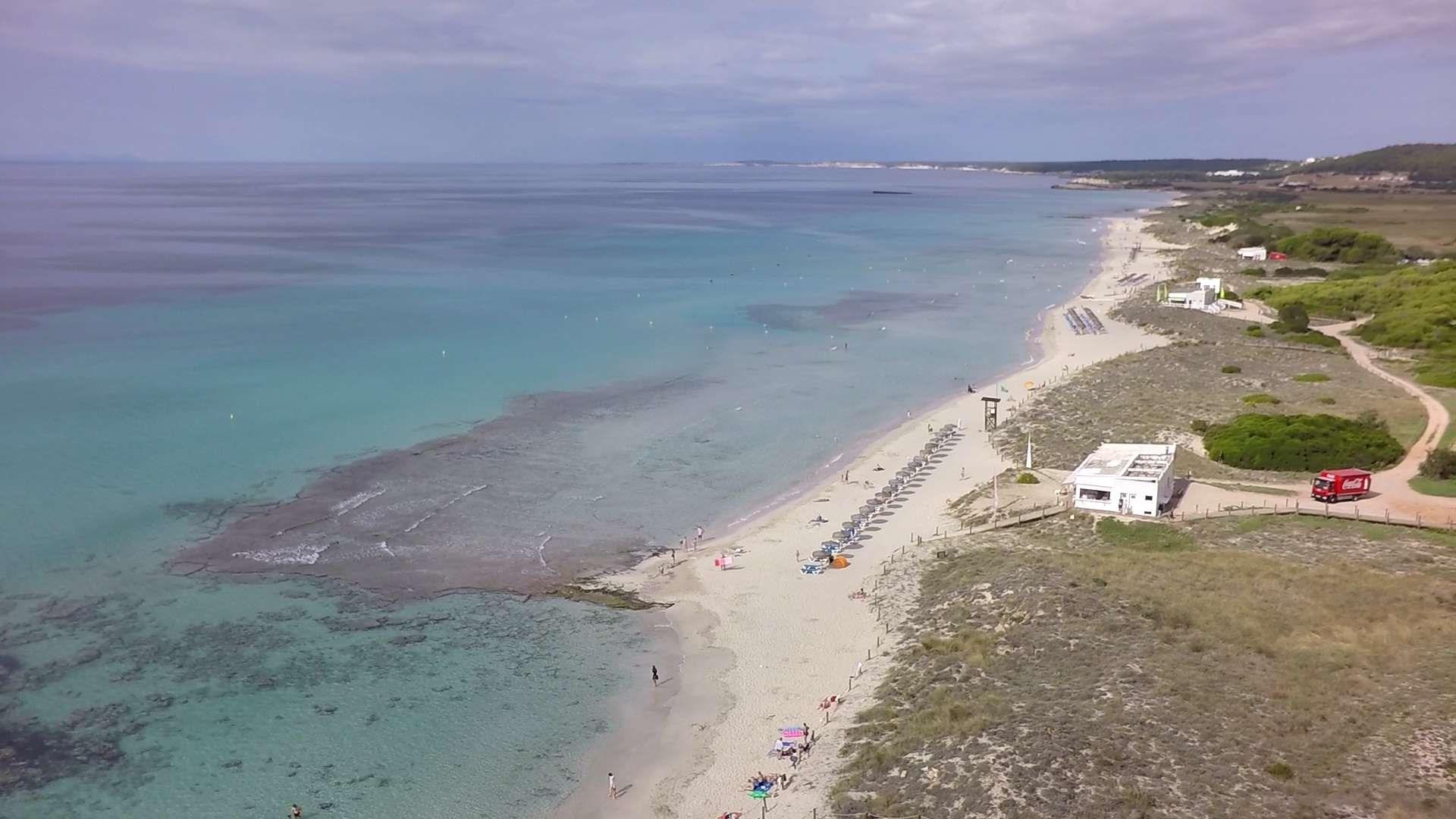Son Bou beach in Menorca (Balearics Island - Spain)