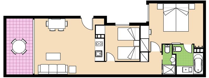 Apartamento 2 Dormitorios Familiar Viajar En Familia A